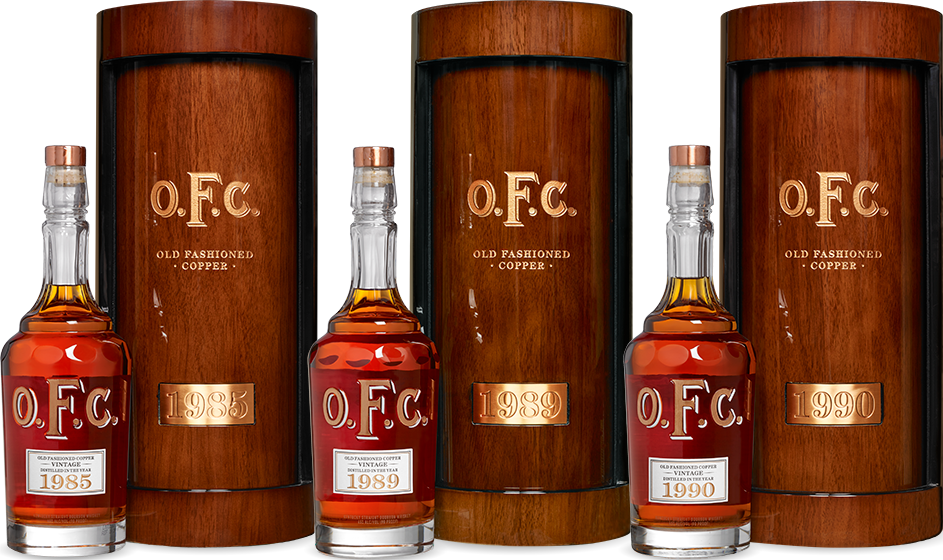 Three O.F.C. Vintages Canisters and Bottles